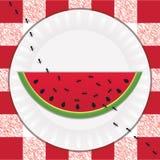 Hormigas y sandía stock de ilustración