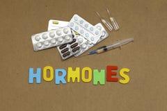 hormonas Fotos de archivo libres de regalías