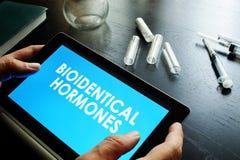 Hormonas do Bioidentical fotografia de stock