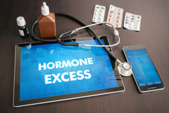 Hormone excess (endocrine disease) diagnosis medical concept on Stock Image