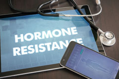 Hormone resistance (endocrine disease related) diagnosis medical Royalty Free Stock Photography