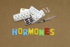 Hormones Royalty Free Stock Photos
