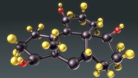 Hormones structure Stock Photo