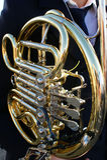 Horn av briljant metall, blåsinstrument Royaltyfri Fotografi