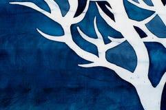 Horn av hjortar, mystiskt träd, turkos stock illustrationer