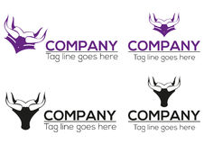 Horn- avläggande av examensymbol och logodesign Arkivfoto