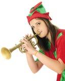 Horn che suona Elf Fotografia Stock Libera da Diritti