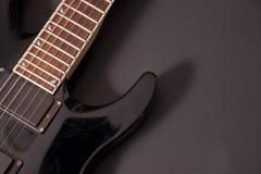 Horn di una chitarra elettrica immagini stock