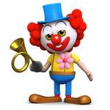 horn för clown 3d Arkivfoton