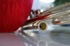 Horn from fanfare. Stock Image
