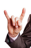 Horn finger sign Stock Photo