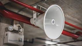 Horn- högtalare för handinnehavmegafon royaltyfria foton