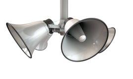 Horn- högtalare som hänger sikt Arkivfoto