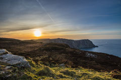Horn Head Sunset at golden hour  , Donegal , Ireland Royalty Free Stock Image
