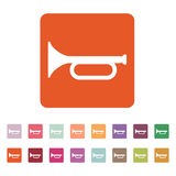 The horn icon. clarion symbol. Flat Stock Photos