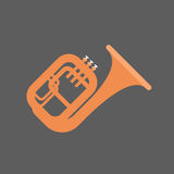 Horn Icon Wind Music Instrument Concept Stock Image
