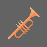 Horn Icon Wind Music Instrument Concept Royalty Free Stock Photo