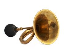 Horn klaxon instrument isolated Stock Photos