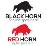Horn logo design Stock Photo