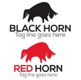 Horn- logodesign Arkivfoto