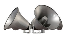 Horn Loudspeakers Facing Out Royalty Free Stock Photography