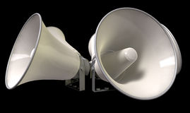 Horn Loudspeakers Facing Out Stock Image