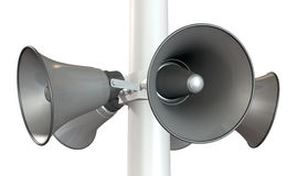 Horn Loudspeakers On A Pole Royalty Free Stock Image