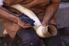 Horn maker Stock Photography