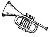 Horn, musical instrument Royalty Free Stock Image