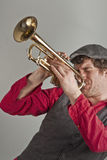 Horn Player Stock Images