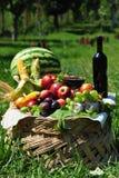 Horn of plenty - autumn cornucopia Royalty Free Stock Image
