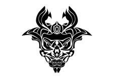 Horn Skull Silhouette Stock Photography