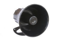 Horn speaker stock photography