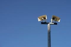 Horn speaker on pole Royalty Free Stock Photo