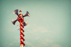 Horn speaker for public relations Stock Photography