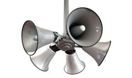 Horn Speakers Hanging View Royalty Free Stock Photo