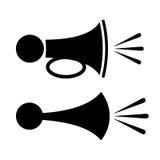 Horn- symbol vektor illustrationer