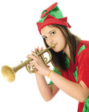 Horn Tooting Elf Royalty Free Stock Photo