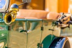 Horn trumpet of old-timer retro vintage car Stock Photo