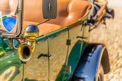 Horn trumpet of old-timer retro vintage car Royalty Free Stock Images