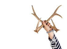 Horn und Fessel Konzept von strafbaren Handlungen und von illegalen Lizenzfreie Stockfotos