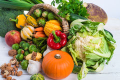 Horn with vegetables Stock Image