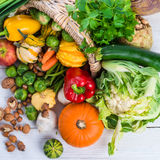 Horn with vegetables Royalty Free Stock Photo