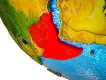 Horn von Afrika auf Erde 3D vektor abbildung