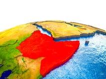 Horn von Afrika auf Erde 3D lizenzfreie abbildung