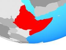 Horn von Afrika auf Kugel vektor abbildung