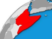 Horn von Afrika auf Kugel 3D vektor abbildung