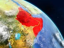 Horn von Afrika vom Raum vektor abbildung