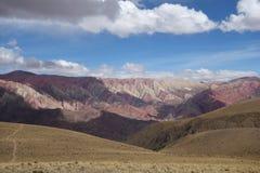 Hornacal - 14 Color Mountain. Hornacal near Tilcara, Argentina. Known as the 14 color mountains Stock Photo