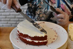 Hornada de la torta Fotografía de archivo